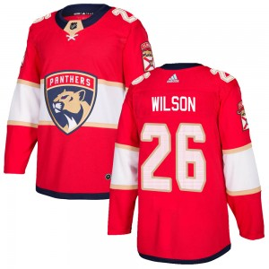 Men's Florida Panthers Scott Wilson Adidas Authentic Home Jersey - Red