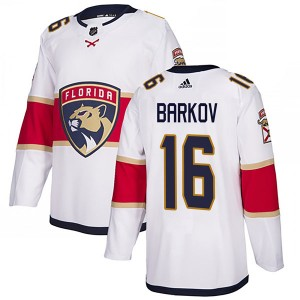 Men's Florida Panthers Aleksander Barkov Adidas Authentic Away Jersey - White