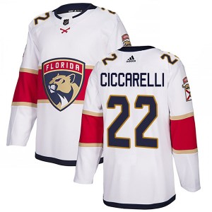 Men's Florida Panthers Dino Ciccarelli Adidas Authentic Away Jersey - White