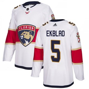 Men's Florida Panthers Aaron Ekblad Adidas Authentic Away Jersey - White