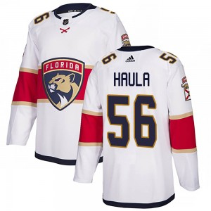 Men's Florida Panthers Erik Haula Adidas Authentic ized Away Jersey - White