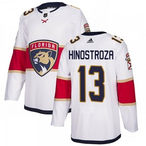 Men's Florida Panthers Vinnie Hinostroza Adidas Authentic Away Jersey - White