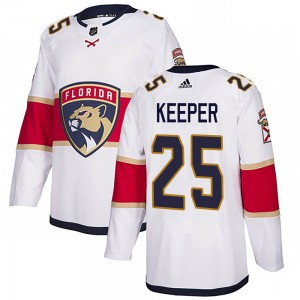 Men's Florida Panthers Brady Keeper Adidas Authentic Away Jersey - White