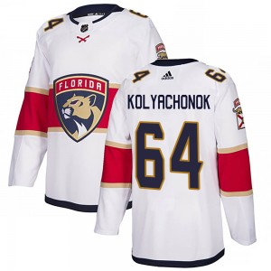 Men's Florida Panthers Vladislav Kolyachonok Adidas Authentic Away Jersey - White