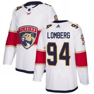 Men's Florida Panthers Ryan Lomberg Adidas Authentic Away Jersey - White