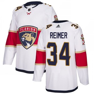 Men's Florida Panthers James Reimer Adidas Authentic Away Jersey - White