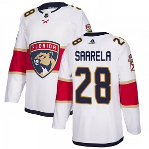 Men's Florida Panthers Aleksi Saarela Adidas Authentic ized Away Jersey - White