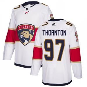 Men's Florida Panthers Joe Thornton Adidas Authentic Away Jersey - White