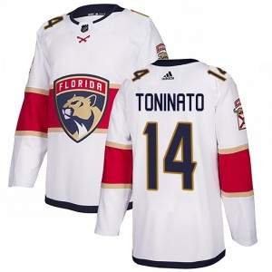 Men's Florida Panthers Dominic Toninato Adidas Authentic Away Jersey - White