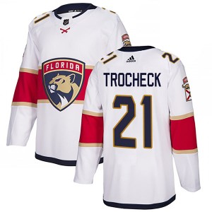 Men's Florida Panthers Vincent Trocheck Adidas Authentic Away Jersey - White