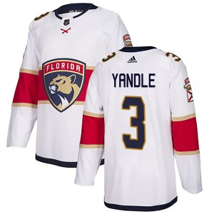 Men's Florida Panthers Keith Yandle Adidas Authentic Away Jersey - White