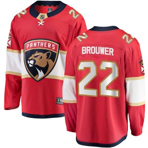 Men's Florida Panthers Troy Brouwer Fanatics Branded Breakaway Home Jersey - Red