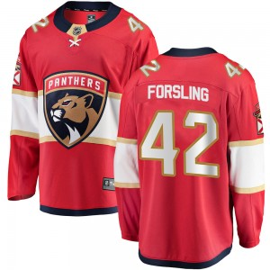 Men's Florida Panthers Gustav Forsling Fanatics Branded Breakaway Home Jersey - Red