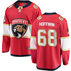 Men's Florida Panthers Mike Hoffman Fanatics Branded Breakaway Home Jersey - Red