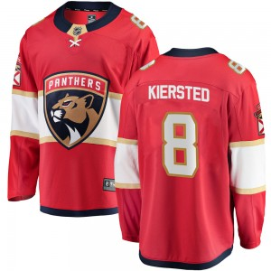 Men's Florida Panthers Matt Kiersted Fanatics Branded Breakaway Home Jersey - Red