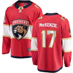 Men's Florida Panthers Derek Mackenzie Fanatics Branded Breakaway Home Jersey - Red