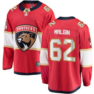 Men's Florida Panthers Denis Malgin Fanatics Branded Breakaway Home Jersey - Red