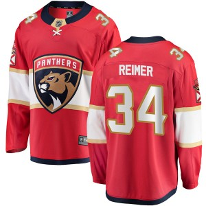 Men's Florida Panthers James Reimer Fanatics Branded Breakaway Home Jersey - Red