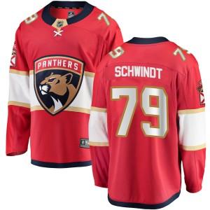 Men's Florida Panthers Cole Schwindt Fanatics Branded Breakaway Home Jersey - Red