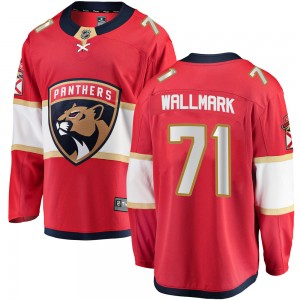Men's Florida Panthers Lucas Wallmark Fanatics Branded ized Breakaway Home Jersey - Red