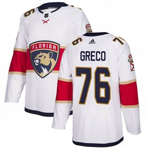 Youth Florida Panthers Anthony Greco Adidas Authentic Away Jersey - White