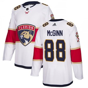 Youth Florida Panthers Jamie McGinn Adidas Authentic Away Jersey - White