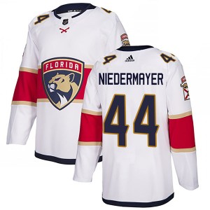 Youth Florida Panthers Rob Niedermayer Adidas Authentic Away Jersey - White