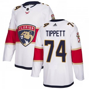 Youth Florida Panthers Owen Tippett Adidas Authentic Away Jersey - White