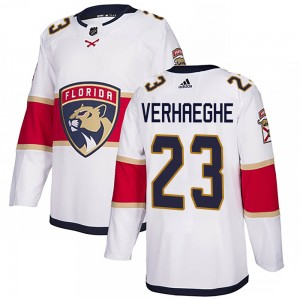 Youth Florida Panthers Carter Verhaeghe Adidas Authentic Away Jersey - White