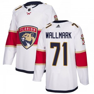 Youth Florida Panthers Lucas Wallmark Adidas Authentic ized Away Jersey - White