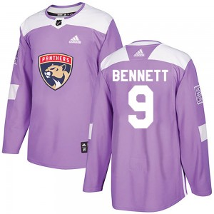 Men's Florida Panthers Sam Bennett Adidas Authentic Fights Cancer Practice Jersey - Purple
