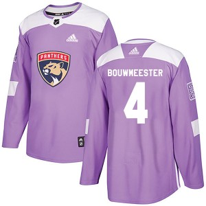 Men's Florida Panthers Jay Bouwmeester Adidas Authentic Fights Cancer Practice Jersey - Purple