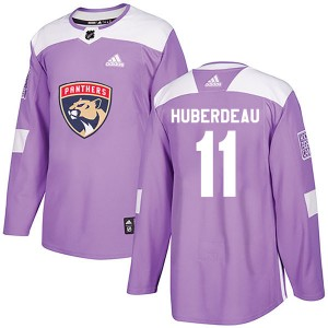 Men's Florida Panthers Jonathan Huberdeau Adidas Authentic Fights Cancer Practice Jersey - Purple