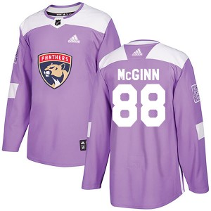 Men's Florida Panthers Jamie McGinn Adidas Authentic Fights Cancer Practice Jersey - Purple