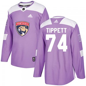 Men's Florida Panthers Owen Tippett Adidas Authentic Fights Cancer Practice Jersey - Purple