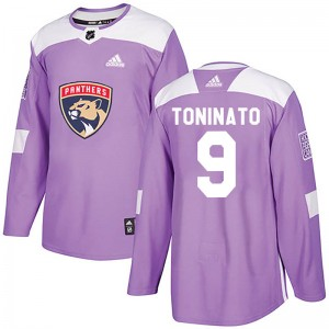 Men's Florida Panthers Dominic Toninato Adidas Authentic Fights Cancer Practice Jersey - Purple