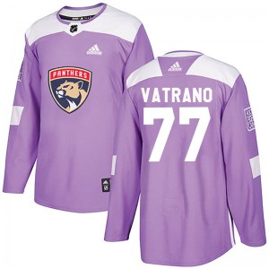 Men's Florida Panthers Frank Vatrano Adidas Authentic Fights Cancer Practice Jersey - Purple