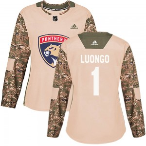 Women's Florida Panthers Roberto Luongo Adidas Authentic Veterans Day Practice Jersey - Camo