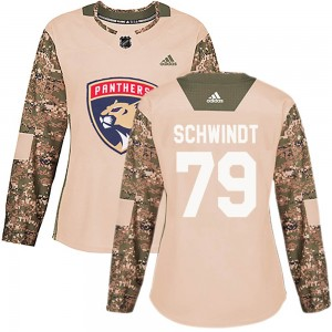 Women's Florida Panthers Cole Schwindt Adidas Authentic Veterans Day Practice Jersey - Camo