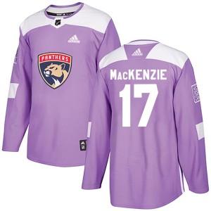 Youth Florida Panthers Derek Mackenzie Adidas Authentic Derek MacKenzie Fights Cancer Practice Jersey - Purple