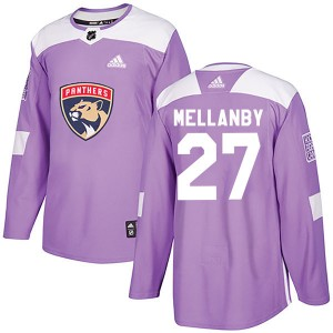 Youth Florida Panthers Scott Mellanby Adidas Authentic Fights Cancer Practice Jersey - Purple