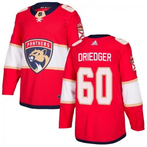 Youth Florida Panthers Chris Driedger Adidas Authentic Home Jersey - Red
