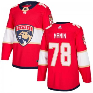 Youth Florida Panthers Maxim Mamin Adidas Authentic Home Jersey - Red
