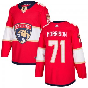 Youth Florida Panthers Brad Morrison Adidas Authentic Home Jersey - Red