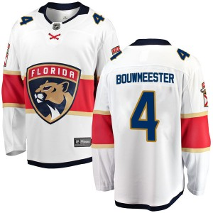 Youth Florida Panthers Jay Bouwmeester Fanatics Branded Breakaway Away Jersey - White