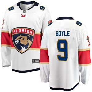 Youth Florida Panthers Brian Boyle Fanatics Branded Breakaway Away Jersey - White