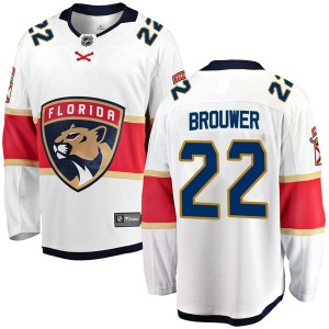 Youth Florida Panthers Troy Brouwer Fanatics Branded Breakaway Away Jersey - White