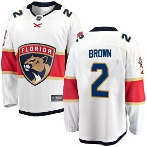 Youth Florida Panthers Josh Brown Fanatics Branded Breakaway Away Jersey - White
