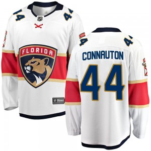 Youth Florida Panthers Kevin Connauton Fanatics Branded Breakaway Away Jersey - White