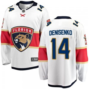 Youth Florida Panthers Grigori Denisenko Fanatics Branded Breakaway Away Jersey - White